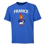 France Animal Mascot Youth T-Shirt (Royal)