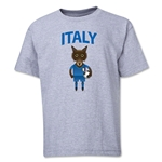 Italy Animal Mascot Youth T-Shirt (Grey)