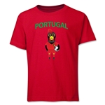 Portugal Animal Mascot Youth T-Shirt (Red)