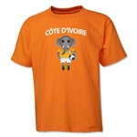 Cote d'Ivoire Animal Mascot Youth T-Shirt (Orange)