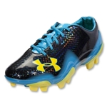 Under Armour Blur II FG Cleats (Black/Capri/Sun Bleached)