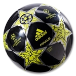 adidas UEFA Champions League Finale 12 Capitano Ball (Black/Lab Lime/Dark Violet)