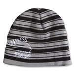 Guinness Rugby Knit Beanie (Black/Gray)