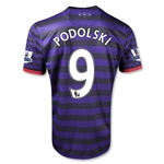 Arsenal 12/13 PODOLSKI Away Soccer Jersey