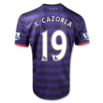 Arsenal 12/13 S.CAZORLA Away Soccer Jersey