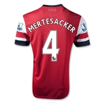 Arsenal 12/14 MERTESACKER Home Soccer Jersey
