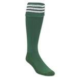 Three-Stripe Socks (Green/White)