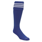 Three-Stripe Socks (Royal/White)