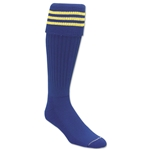 Three-Stripe Socks (Royal/Yellow)