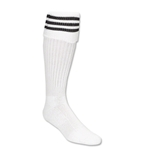 Three-Stripe Socks (White/Black)