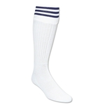 Three-Stripe Socks (White/Navy)