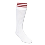 Three-Stripe Socks (White/Red)