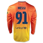 Barcelona 12/13 Messi 91 Goals LS Away Soccer Jersey