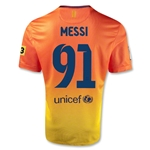Barcelona 12/13 Messi 91 Goals Away Soccer Jersey