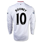 Manchester United 12/13 ROONEY LS Away Soccer Jersey