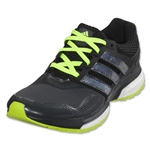adidas Response Boost 2 Techfit Running Shoe (Dark Grey/Black/Solar Yellow)