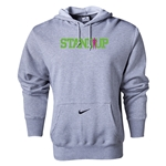 Nike StandUp Green Logo Core Hoody (Gray)
