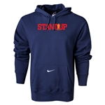Nike StandUp Red Logo Core Hoody (Navy)