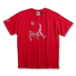 Pele Sports Youth Bike Kick T-Shirt (Red)