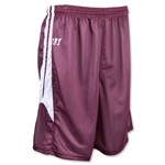 Warrior Fusion Reversible Game/Practice Lacrosse Shorts (Maroon/Wht)
