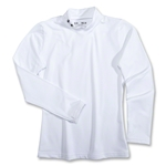Under Armour Youth EVO Coldgear Fitted Mock (White)