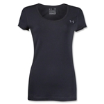 Under Armour Women's Charged Cotton Scoop T-Shirt (Black)