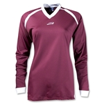 Brine Women's Radiance Shooter's Lacrosse Shirt (Maroon/Wht)