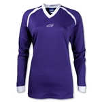 Brine Women's Radiance Shooter's Lacrosse Shirt (Pur/Wht)