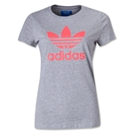 adidas Originals Women's adi Trefoil T-Shirt (Gray)