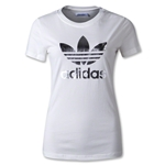 adidas Originals Women's adi Trefoil T-Shirt (White/Gray)