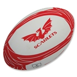 Gilbert Scarlets Supporter Rugby Ball