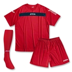 Joma Academy Short Sleeve Soccer Kit (Red/Navy)