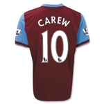 Aston Villa 09/10 CAREW 10 Home Soccer Jersey