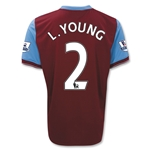 Aston Villa 09/10 L. YOUNG 2 Home Soccer Jersey