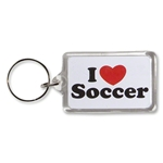 I Heart Soccer Key Ring