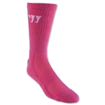 Warrior Crew Socks (Neon Pink)
