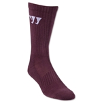 Warrior Crew Socks (Maroon)