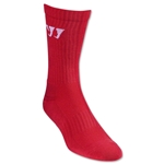 Warrior Crew Socks (Red)