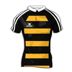 Gilbert Modern Hooped Premier Custom Jersey (Black/Yellow- Set of 22)