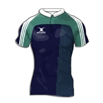 Gilbert Yoked Premier Custom Jersey (Navy/Green- Set of 22)