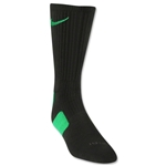 Nike Elite Crew Sock (Black/Green)