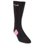 Nike Elite Crew Sock (Black/Pink)