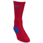 Nike Elite Crew Sock (Red/Blue)