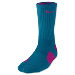 Nike Elite Crew Sock (Teal/Pink)