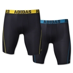 adidas Sport Perf ClimaLite 2 pack Boxer Brief (Blk/Yellow)
