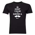 BLK Keep Calm and Grow a Moustache T-Shirt (Black)