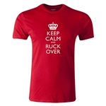 dumpTackle Keep Calm and Ruck Over T-Shirt (Red)
