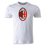 AC Milan Logo Men's Fashion T-Shirt (White)