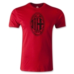AC Milan Distressed Logo Men's Fashion T-Shirt (Red)