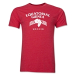 Equatorial Guinea Soccer Men's Fashion T-Shirt (Heather Red)